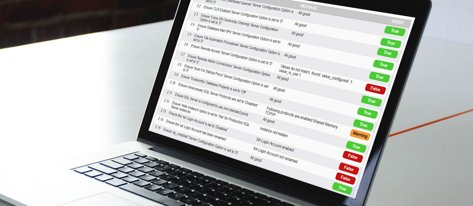 Audit TAP SQL (Bild: FB Pro / Mockdrop.io)