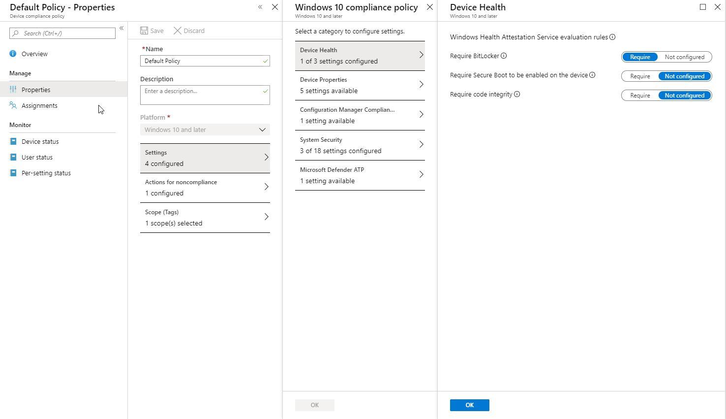 Bitlocker Microsoft Azure Cloud Integration - Device Health (Bild: Microsft / FB Pro)