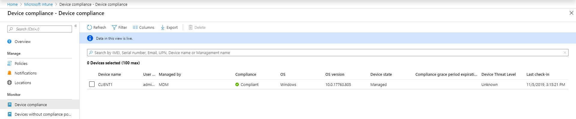Bitlocker Microsoft Azure Cloud Integration - Compliance (Bild: Microsft / FB Pro)